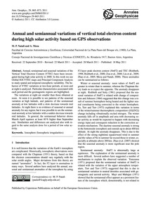 Annual and Semiannual Variations of Vert... by Natali, M. P.