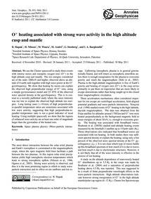 O+ Heating Associated with Strong Wave A... by Slapak, R.