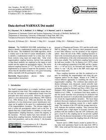 Data Derived Narmax Dst Model : Volume 2... by Boynton, R. J.