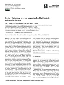 On the Relationship Between Magnetic Clo... by Kilpua, E. K. J.
