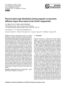 Electron Pitch Angle Distribution During... by Borg, A. L.