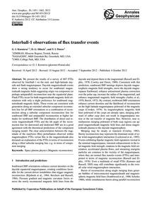 Interball-1 Observations of Flux Transfe... by Korotova, G. I.