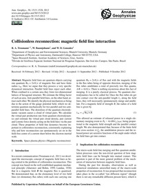 Collisionless Reconnection: Magnetic Fie... by Treumann, R. A.