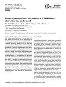 Energetic Protons at Mars: Interpretatio... by Kallio, E.
