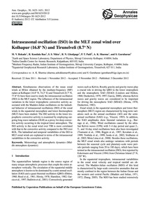 Intraseasonal Oscillation (Iso) in the M... by Rokade, M. V.