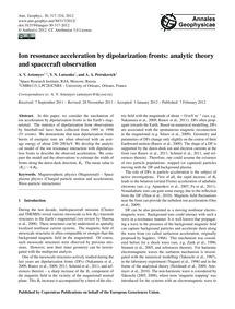 Ion Resonance Acceleration by Dipolariza... by Artemyev, A. V.
