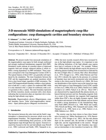 3-d Mesoscale Mhd Simulations of Magneto... by Adamson, E.