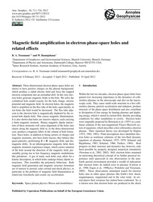 Magnetic Field Amplification in Electron... by Treumann, R. A.