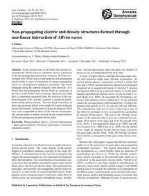 Non-propagating Electric and Density Str... by Mottez, F.