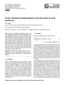 On the Relaxation of Magnetospheric Conv... by Kelley, M. C.