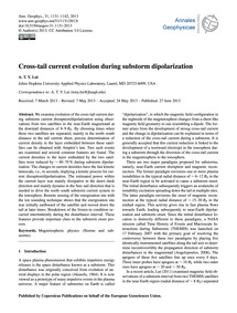 Cross-tail Current Evolution During Subs... by Lui, A. T. Y.