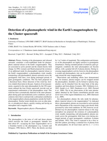 Detection of a Plasmaspheric Wind in the... by Dandouras, I.