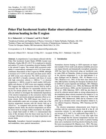 Poker Flat Incoherent Scatter Radar Obse... by Makarevich, R. A.