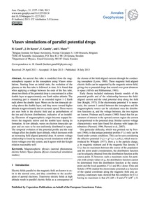Vlasov Simulations of Parallel Potential... by Gunell, H.