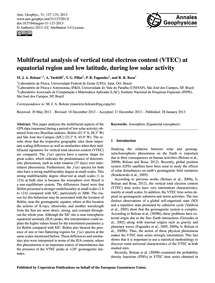 Multifractal Analysis of Vertical Total ... by Bolzan, M. J. A.