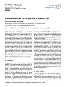 Cross-field Flow and Electric Potential ... by De Keyser, J.