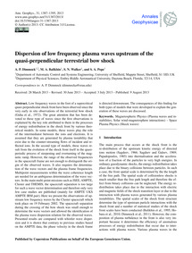 Dispersion of Low Frequency Plasma Waves... by Dimmock, A. P.