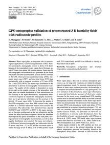 Gps Tomography: Validation of Reconstruc... by Shangguan, M.