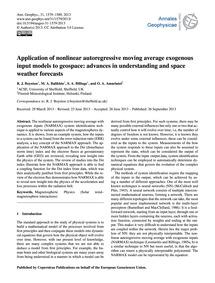 Application of Nonlinear Autoregressive ... by Boynton, R. J.