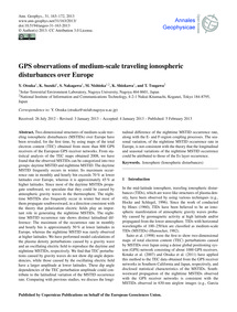 Gps Observations of Medium-scale Traveli... by Otsuka, Y.