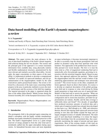Data-based Modelling of the Earth's Dyna... by Tsyganenko, N. A.