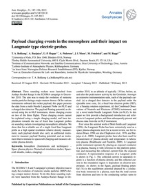 Payload Charging Events in the Mesospher... by Bekkeng, T. A.