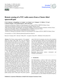Remote Sensing of a Ntc Radio Source fro... by Décréau, P. M. E.