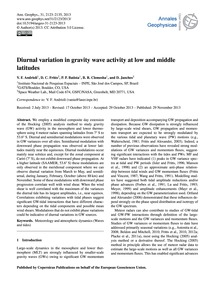 Diurnal Variation in Gravity Wave Activi... by Andrioli, V. F.