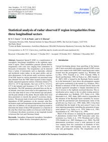 Statistical Analysis of Radar Observed F... by Cueva, R. Y. C.