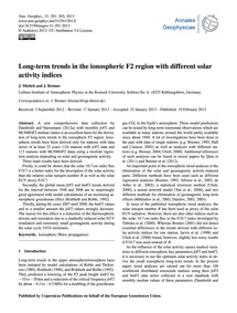 Long-term Trends in the Ionospheric F2 R... by Mielich, J.