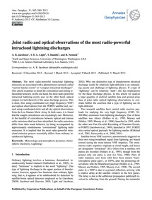 Joint Radio and Optical Observations of ... by Jacobson, A. R.