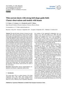 Thin Current Sheets with Strong Bell-sha... by Vasko, I. Y.