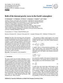 Rolls of the Internal Gravity Waves in t... by Onishchenko, O.