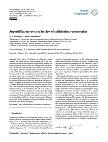Superdiffusion Revisited in View of Coll... by Treumann, R. A.