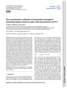 First Experimental Verification of Summe... by Placke, M.