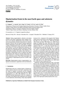 Dipolarization Fronts in the Near-earth ... by Vogiatzis, I. I.