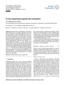 In Situ Magnetotail Magnetic Flux Calcul... by Shukhtina, M. A.