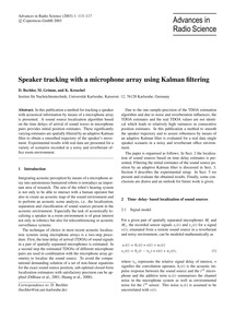 Speaker Tracking with a Microphone Array... by Bechler, D.