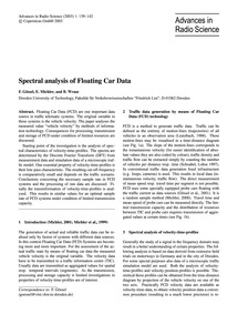Spectral Analysis of Floating Car Data :... by Gössel, F.