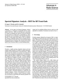 Spectral Signature Analysis – Bist for R... by Lupea, D.