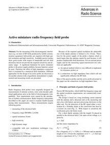 Active Miniature Radio Frequency Field P... by Glasmachers, A.
