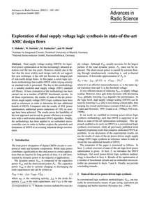 Exploration of Dual Supply Voltage Logic... by Mahnke, T.