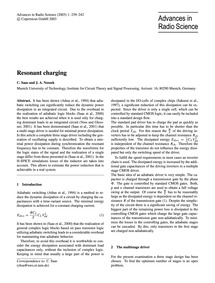 Resonant Charging : Volume 1, Issue 9 (0... by Saas, C.