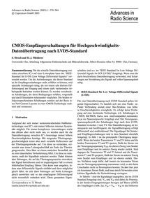 Cmos-empfängerschaltungen Für Hochgeschw... by Hirsch, S.