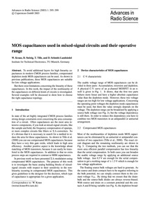 Mos Capacitances Used in Mixed-signal Ci... by Kraus, W.