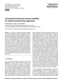 Automated Parametrical Antenna Modelling... by Kazemzadeh, R.