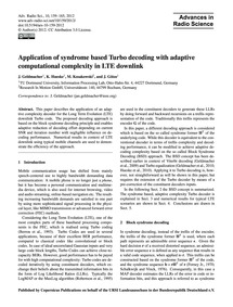 Application of Syndrome Based Turbo Deco... by Geldmacher, J.