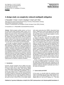 A Design Study on Complexity Reduced Mul... by Wasenmüller, U.