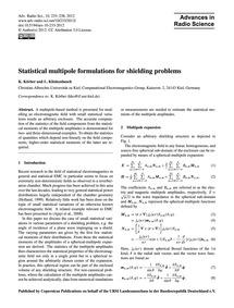 Statistical Multipole Formulations for S... by Körber, K.