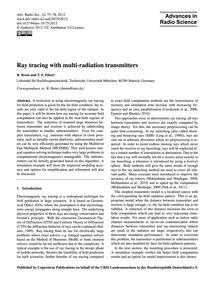Ray Tracing with Multi-radiation Transmi... by Brem, R.